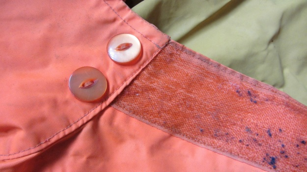 henri lloyd vintage sailing drysuit orange - neck seal