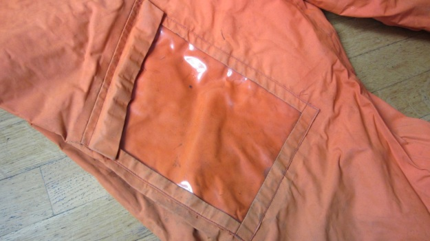 henri lloyd vintage sailing drysuit orange - map pocket leg