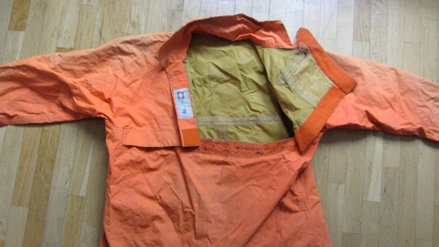 henri lloyd vintage sailing drysuit orange - front entry open