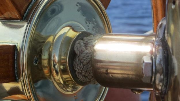 Moonbeam IV Yacht shining brass