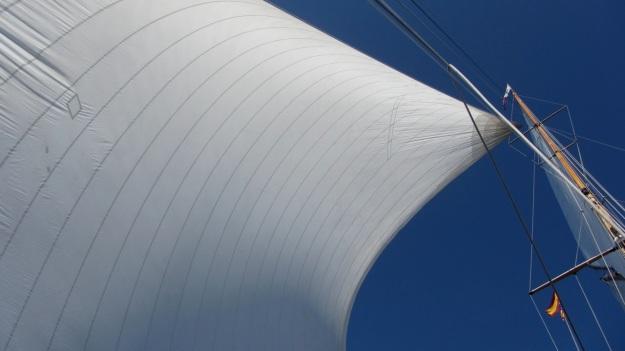 Moonbeam IV Yacht sail in the sun