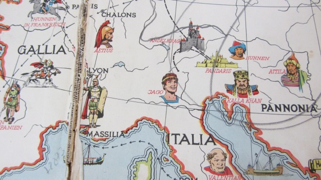 Prinz Eisenherz - Kämpft gegen die Hunnen by Harold Foster vintage comic book map
