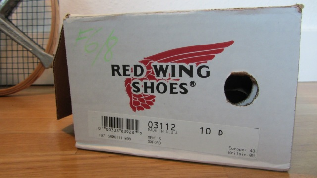 Red Wing Shoes Oxford 3112 – boxed