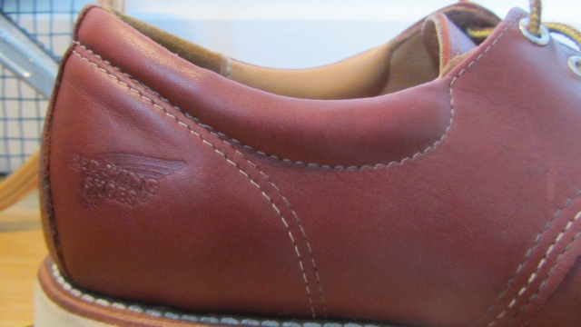 Red Wing Shoes Oxford 3112 – detail rim of the heel