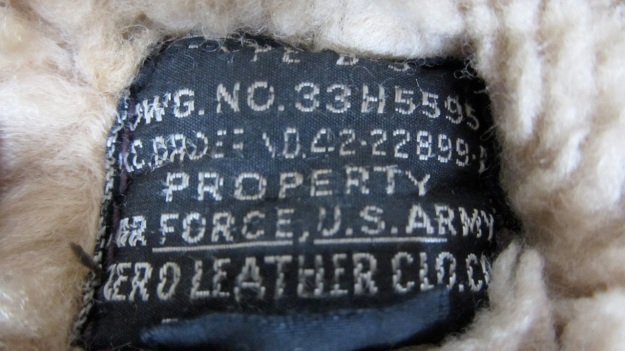 Aeroleather B-3 jacket – label