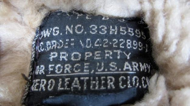Aeroleather B-3 jacket – label
