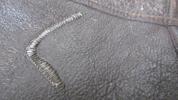 Aeroleather B-3 jacket – repair stitches