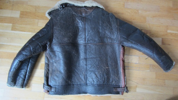 vintage Aeroleather B-3 jacket full view backside