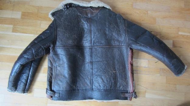 vintage Aeroleather B-3 jacket full view backside