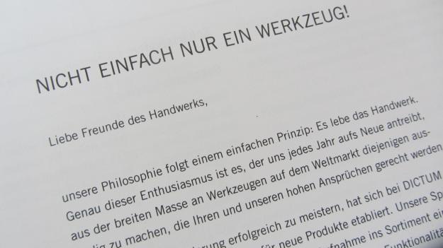 dictum catalogue tools werkzeug- nicht einfach nur werkzeug