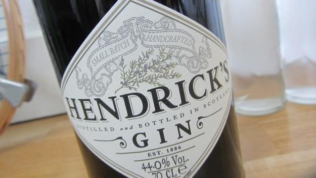 Hendrick´s Gin Label macro