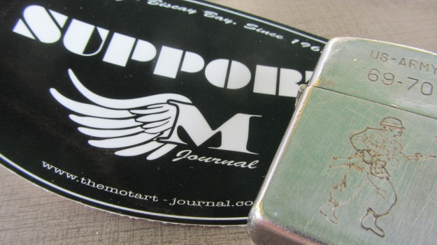 MotArt Journal, old Vietnam Zippo meeting Frank