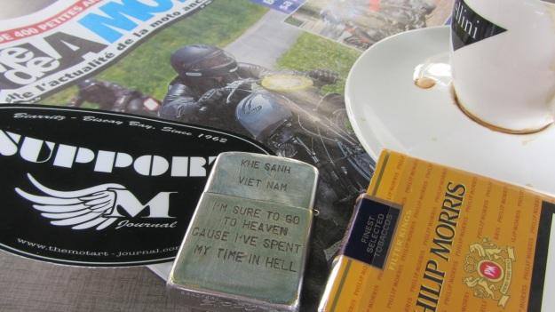 MotArt Journal, old Vietnam Zippo meeting Frank