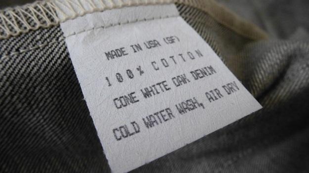 Denim Chore Coat by Tellason as workwear - label cone white oak denim