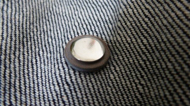 Denim Chore Coat by Tellason as workwear - reenforce buttons