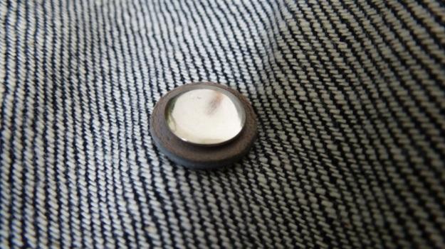 Denim Chore Coat by Tellason as workwear - reenforce buttons
