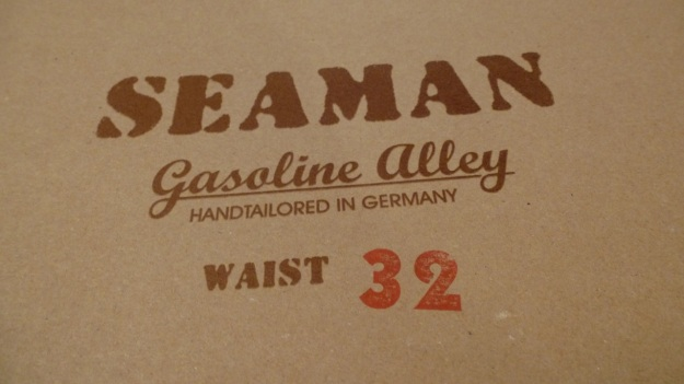 gasoline alley seaman trouser handtailored in germany - box detail