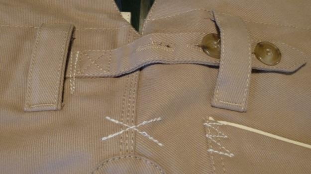 gasoline alley seaman trouser handtailored in germany cinch back backside
