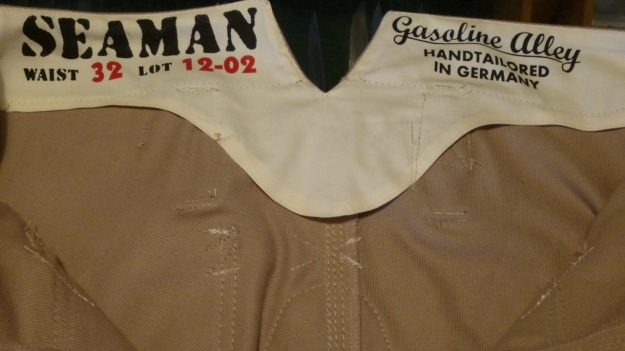 gasoline alley seaman trouser handtailored in germany inside view