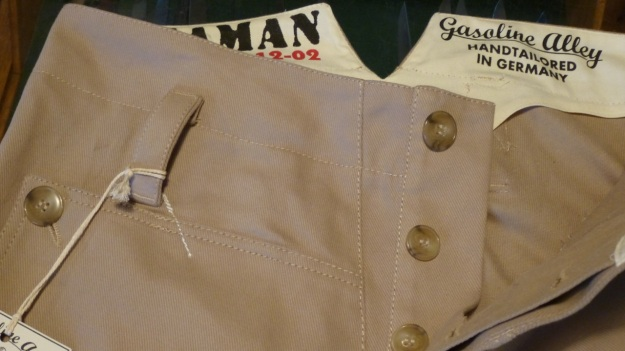gasoline alley seaman trouser handtailored in germany front view with inside