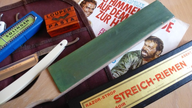 straight razor stromp the rougher green side