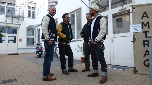 Amtraq and Merz b. Schwanen Showroom Munich - Dehen Baseball Jackets