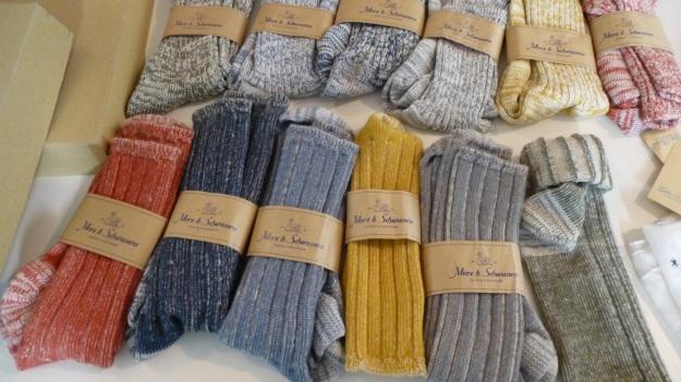 Amtraq and Merz b. Schwanen Showroom Munich - socks
