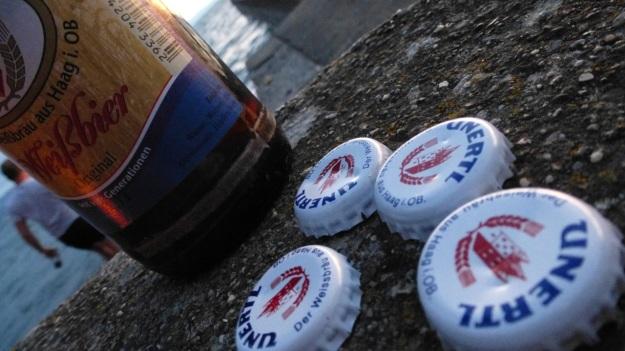 bbq at the lake & Unertl beer! Unertl Weissbier