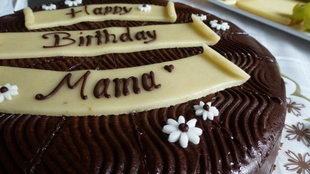 happy birthday mom - birthday cake