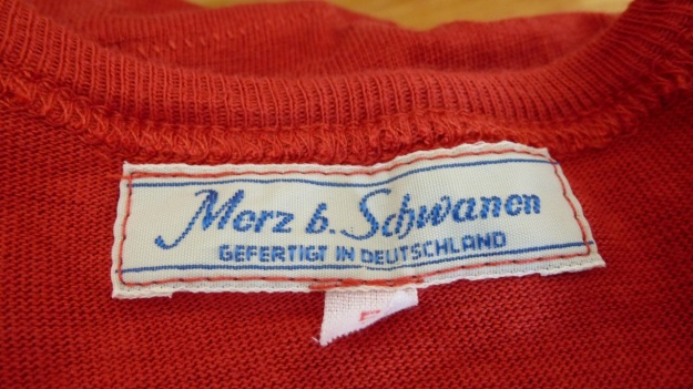 Merz b. Schwanen 206 button facing shirt - logo label gefertigt in deutschland
