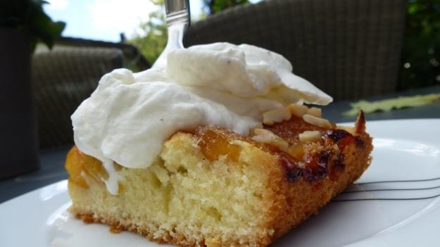Sunday cake - Mirabellenkuchen mit Schlagsahne ready to eat