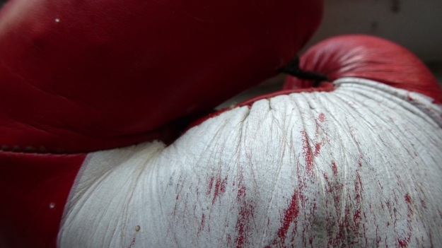 undusting my homegym - boxing gloves
