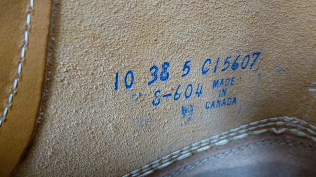 Gorilla shoe la chaussure - made in canada inside boot label