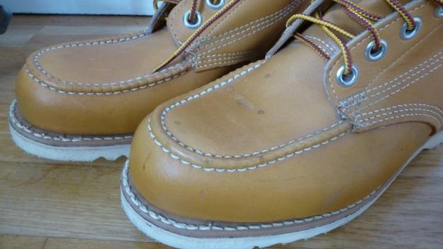 Gorilla shoe la chaussure - made in canada moc toe boot cognac