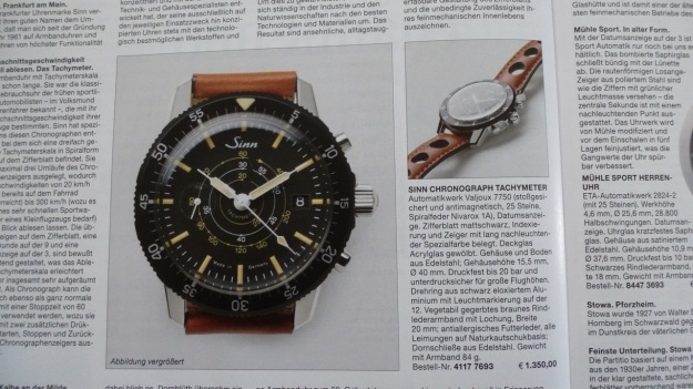 Manufactum Nr. 25 Summer 2012 personal highlights - sinn chronograph
