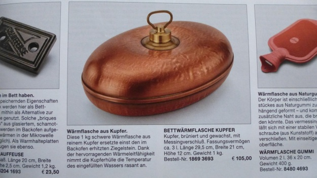 Manufactum Nr. 25 Summer 2012 personal highlights -  kupfer wärmflasche