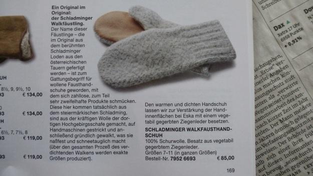 Manufactum Nr. 25 Summer 2012 personal highlights - woolen mittens