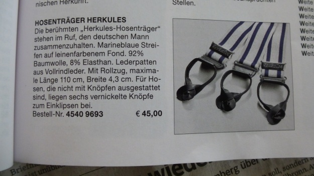 Manufactum Nr. 25 Summer 2012 personal highlights - herkules suspenders