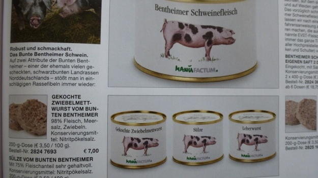 Manufactum Nr. 25 Summer 2012 personal highlights - bentheimer pork