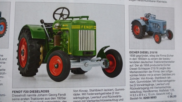 Manufactum Nr. 25 Summer 2012 personal highlights - toy fendt tractor