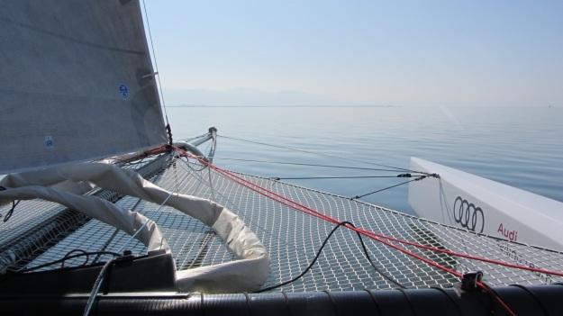 sailing full carbon racing regatta catamaran