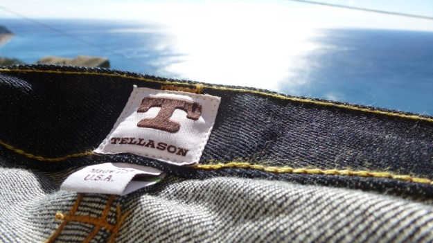 Tellason Ankara Jeans made in USA inside labels
