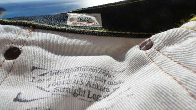 Tellason Ankara Jeans - white oak cone mills label