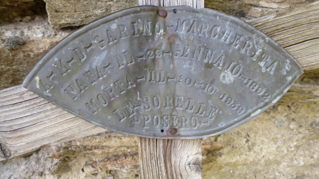 Valle Maira - Cemetery iron plate