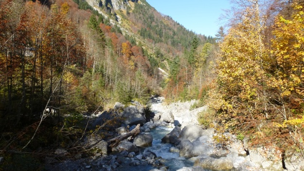 Biberacher Hütte - Schröcken hiking river view autumn leaves