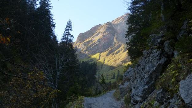 Biberacher Hütte - Schröcken hiking distant mountain