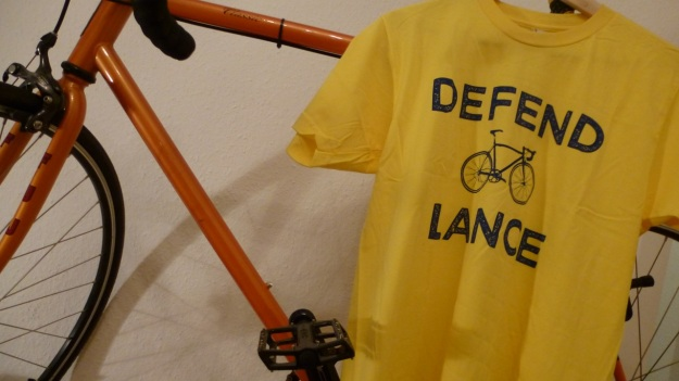 Defend Lance - Pedal Pushers Club T-Shirt on bike