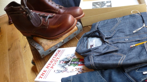 Ecke32 Manufacture Store Konstanz - tellason topper denim shirt, wolverine 1000 mile boots, and the heritage magazine