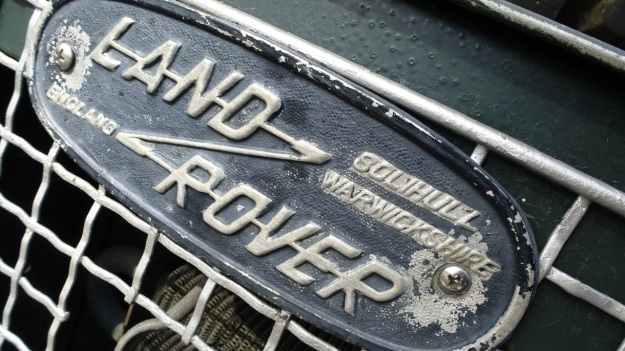 old stuff around the shipyard - landrover defender logo old