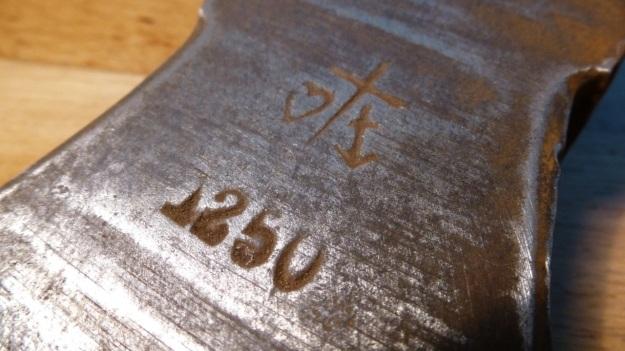 old tools, anchor, heart and cross axehead, 1250g hallmark